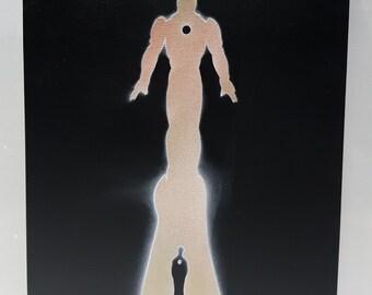 Iron Man Boy to Man Silhouette