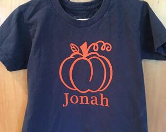 Kids pumpkin shirt