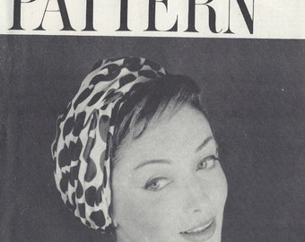 "1958 Vintage VOGUE Sewing Pattern HAT S21 1/2"" (1213) By Sally Victor Vogue 9439"