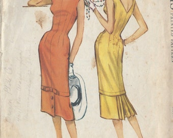 "1958 Vintage Sewing Pattern B32"" DRESS (R535) McCalls 4584"