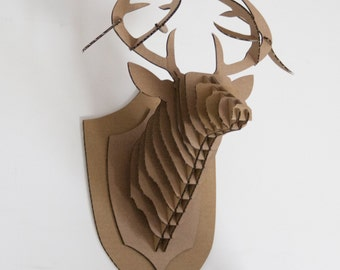 deer head template laser cutting file wall decoration