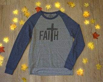 Faith Sweatshirt > Christian Apparel > faith > cross