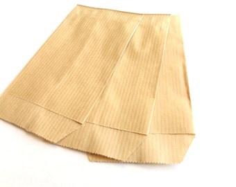 50 pockets 7 cm * 12 cm Ecru Kraft gift bags
