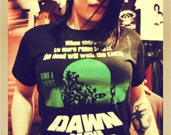 DAWN OF THE dead t shirt  zombie horror george romero
