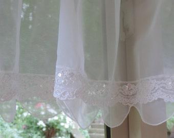 Angel Sheer window Valance,  Beaded window valance,  Window curtain
