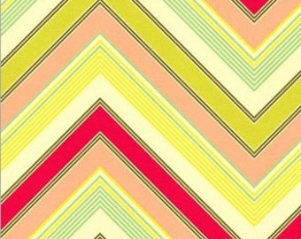 Heather Bailey Zag Fabric - Large Chevron Fabric - Zig Zag Fabric - Pop Garden Fabric