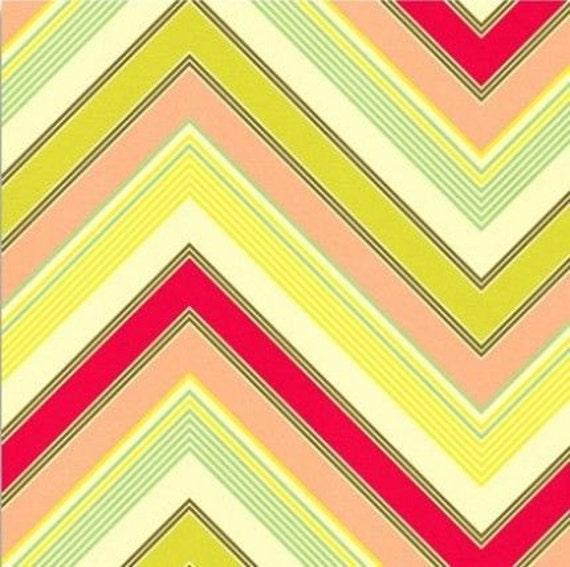 Heather Bailey Zag Fabric - Large Chevron Fabric - Zig Zag Fabric - Pop Garden Fabric