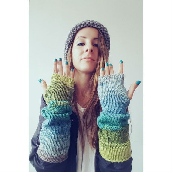 Colourful Fingerless Arm Warmers, Texting Gloves, Glove Mittens, Boho Chic Gloves, Glove Mitts, Christmas Gift for Her