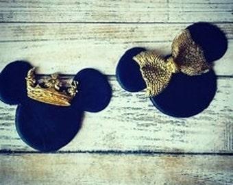 Royal Mouse Fondant Cupcake Toppers