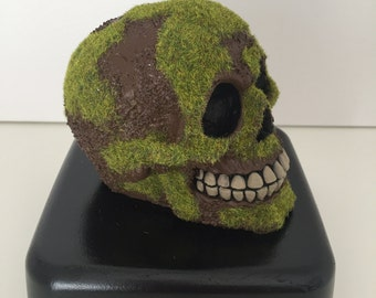 Hand cast, hand painted custom skull