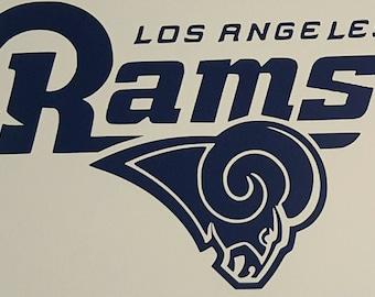 LA Rams vinyl decal Los Angeles car truck window laptop Free Shipping!