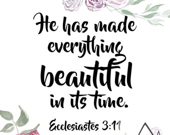 DIGITAL PRINT -- Ecclesiastes 3:11 Quote