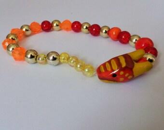 Handmade Fire Dragon Bracelet
