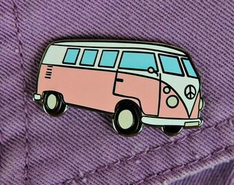 Hippie Van Enamel Pin