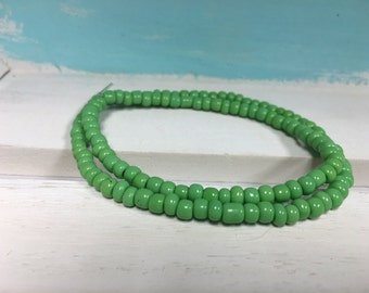 Light Green Seed bead bracelet