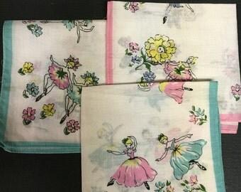Vintage cloth  ballerina napkins