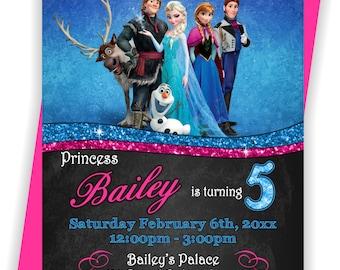 Frozen Birthday, Invite, Frozen Invitation, Frozen Invite, Frozen Party Invite, Frozen Birthday Girl - BIRINV21