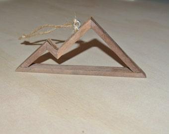 Rustic Mountain Xmas Ornament