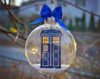 Dr. Who Tardis - Christmas Tree Ornament
