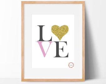 Love (White) Wall Print_0059WP
