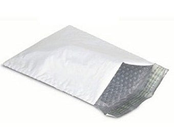 100 4x8 Poly Bubble Mailers Padded Envelope Shipping Bags