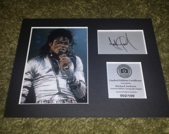 Michael Jackson - Signed Autograph Display - Fully Mounted and Ready To Be Framed V1