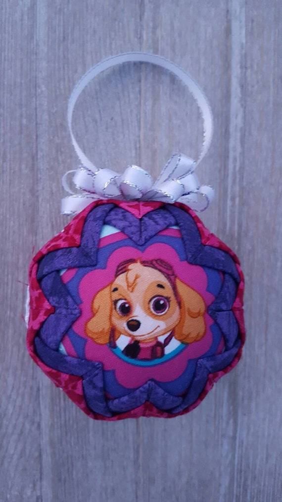Skye Inspired Handcrafted Quilted Fabric Christmas Ornament