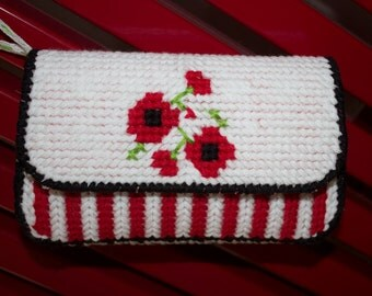 Plastic canvas purse PDF pattern