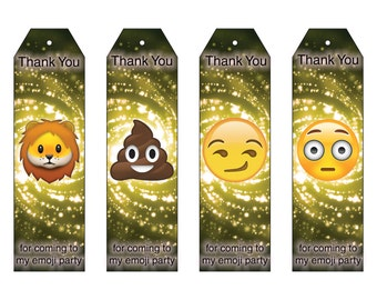 Emoji Inspired Party Favor Bookmarks Download and Print Emoji Party Favor Bookmarks Thank You for coming to my emoji party