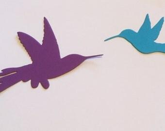 Die Cut Hummingbirds - Set of 24 - Card Stocks
