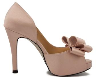 Nude wedding heels | Etsy