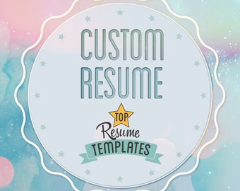 Custom Resume Design, Professional Resume Editing Services, Modern Resume Services, Creative Resume Template Layout Resume Word Cover Letter