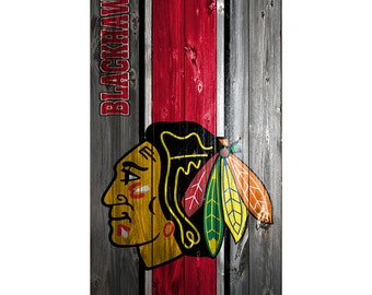 Blackhawks Cornhole Etsy - Custom vinyl decals chicago