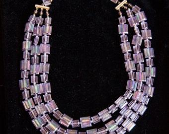 Beautiful W. Germany Necklace Purple