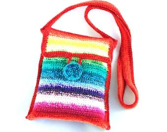 Crochet Rainbow Bag