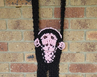 Macrame monkey wall hanging