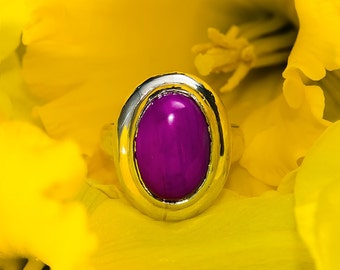 Purple spring ring