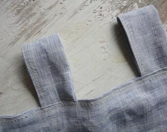 midi weight LINEN curtain panel / drape in indigo, cobalt or light blue  (MAALIKAA collection)