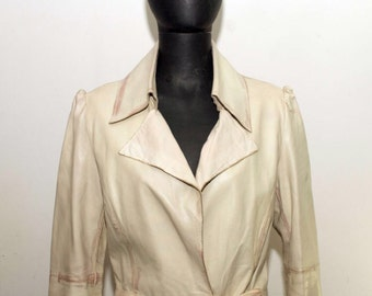 Real leather coat/Trench-Angela Mele Milano-Real leather coat size 44 en