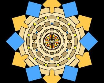 Mandala coloring sheets [set of 20]