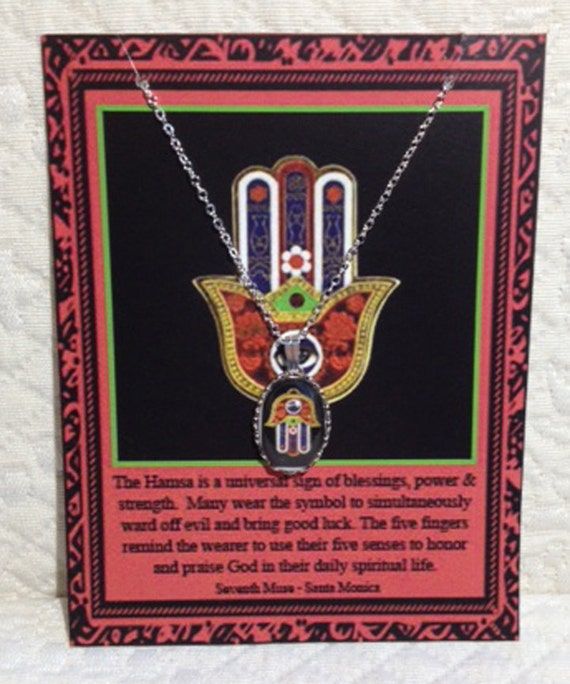Hamsa Charm Necklace on Story Card