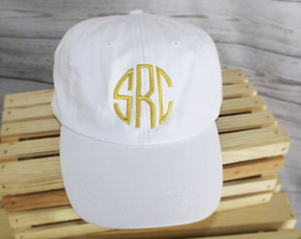 Monogrammed Hat Set of 5 Baseball Cap, Bridesmaid Gift, Groomsman Gift, Personalized, Monogrammed