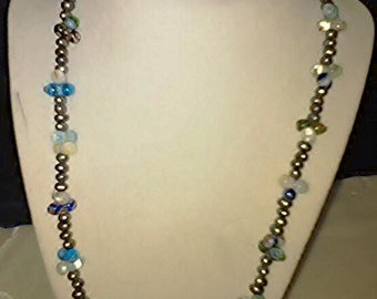 Glass beads and freshwater pearls