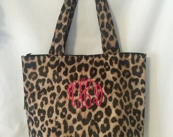 Monogrammed Lunch Tote Cooler Insulated School With Pouch Case Wine Light Weight