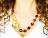 Giraffe Necklace, Amber Necklace, Statement Necklace, Giraffe Jewelry, Giraffe Gifts, Animal Necklace, Animal Jewelry, Animal Gift, Giraffes