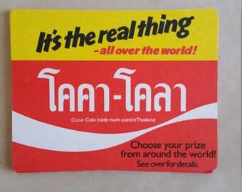Vintage Taan Taan (Coca-Cola) Cardboard Coaster,  Drink Collector Mats, Thailand drink mats