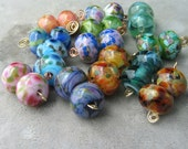 You Pick 3 Pairs of Beads from My Lampwork Spacer Bead Selections