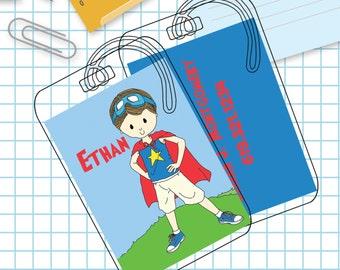 Super Boy Luggage or Backpack Tag- Custom