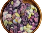Amethyst - hand-dyed Merino wool / bamboo / silk (4 oz.) combed top roving