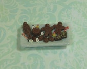 Dollhouse Miniature Tray of Christmas Sweets - A